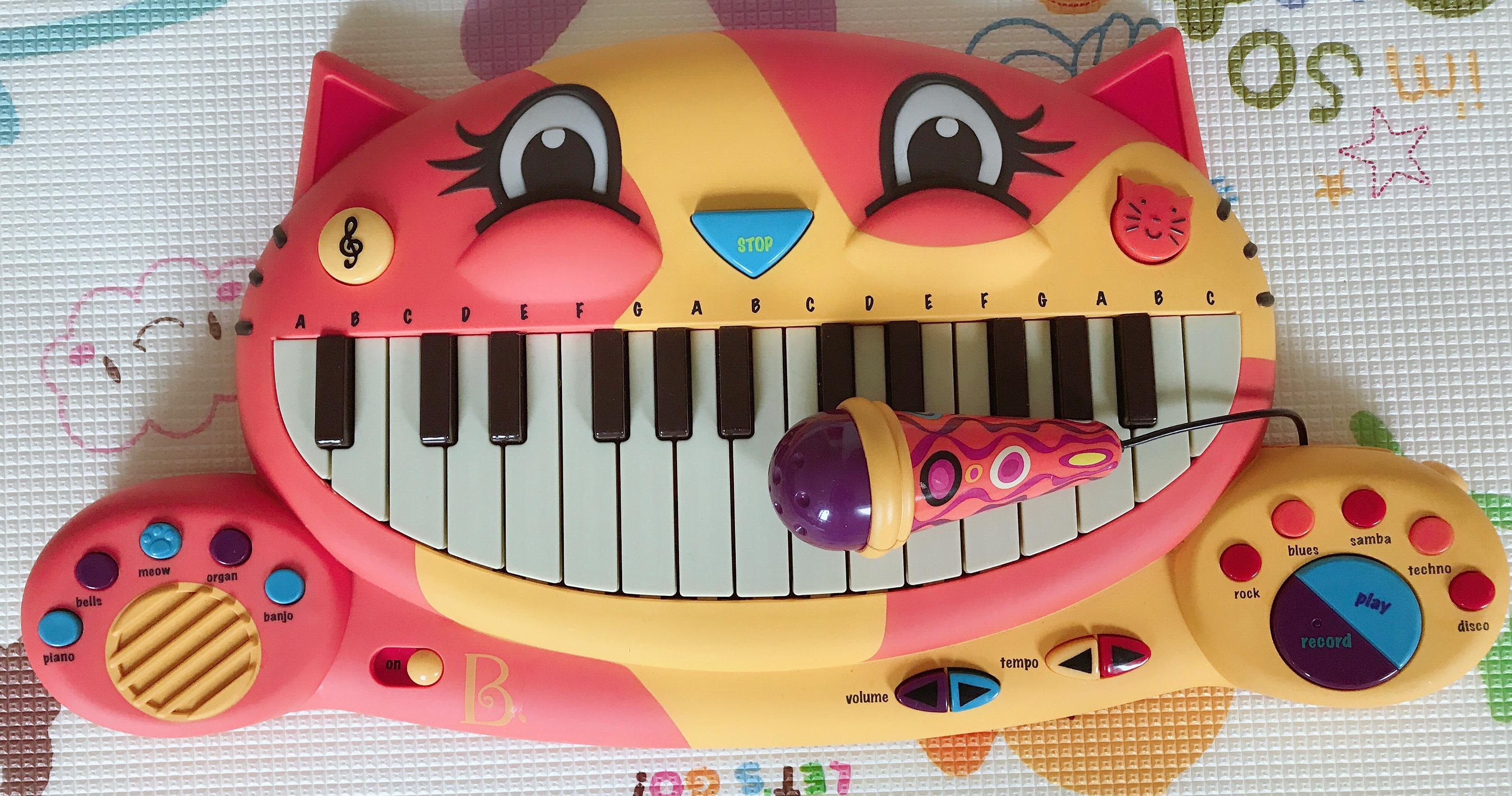 比乐大嘴猫琴 儿童益智早教电子钢琴使用感受(年龄|品牌|标志)
