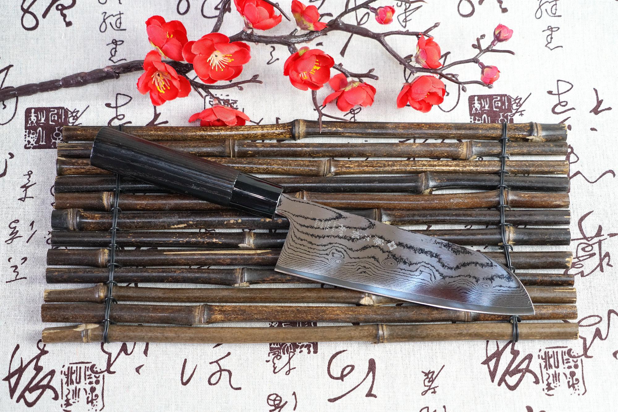 一路火花带闪电:藤次郎TOJIRO 疾风 Black 系列三德刀 FD-1597