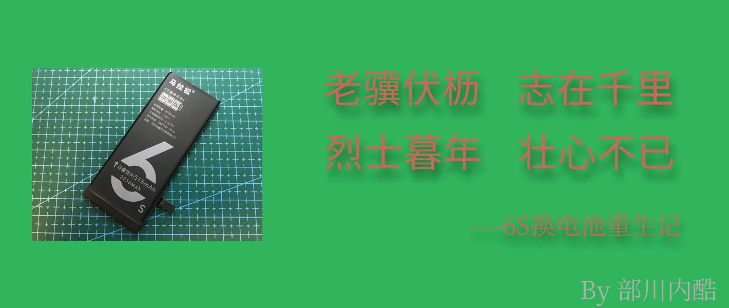 白菜简晒 篇二十九:老骥伏枥,志在千里;烈士暮年,壮心不已——6S换马拉松电池浴火重生记