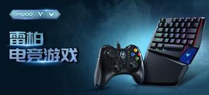 雷柏游戏V系列:雷柏V550RGB幻彩背光单手游戏机械键盘、V600振动游戏手柄(随机发货)