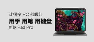 【新品首发】Apple iPad Pro 11英寸平板电脑 2020年新款(含笔、妙控键盘)