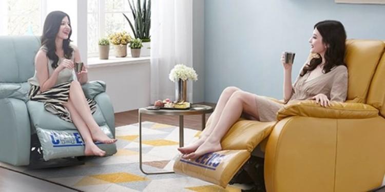芝华仕单人电动沙发,五大姿势丝滑切换